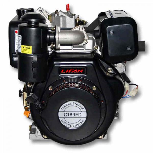 Двигатель LIFAN C186FD dizel  (9 л.с., 25мм, электрозапуск)