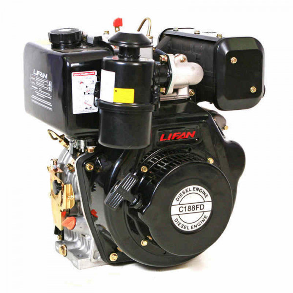 Двигатель LIFAN C188FD dizel  (10 л.с., 25мм, электрозапуск)