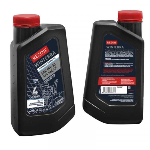 Масло REZOIL WINTERRA 4-т. зимнее, синтетика (до -40°С), SAE 0W-30 API SM/CF
