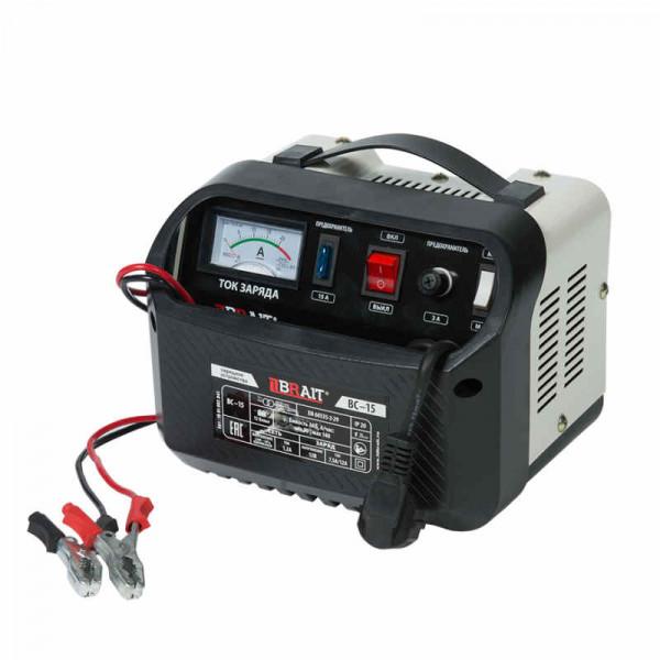 Устройство зарядное BRAIT BC-15 (12/24В, 18-120А/ч, 8А/15А, 170/300Вт)
