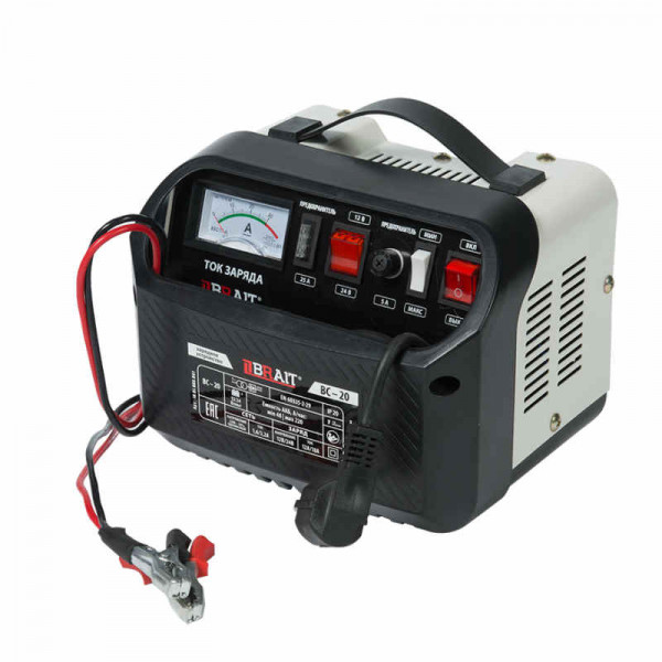 Устройство зарядное BRAIT BC-20 ( 2/24В, 20-140А/ч, 220В-50Гц, 11А/20А, 220/320Вт)